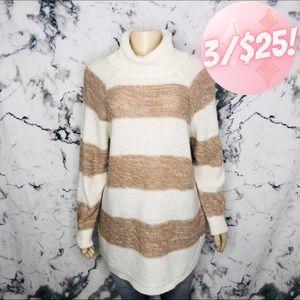 💖3/$25💖 Jordache Striped Cowl Neck Sweater